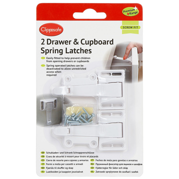 2 Drawer & Cupboard Spring Latches