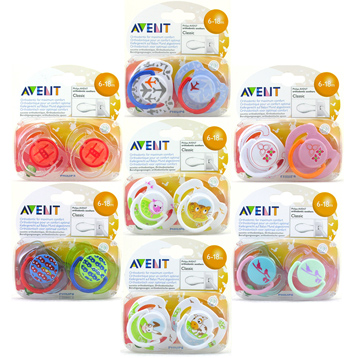 Philips Avent Classic Silicone Soothers 6-18 Months