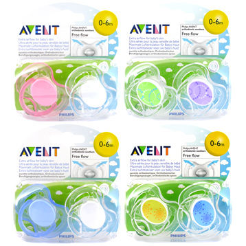 Avent Freeflow Silicone Soothers 0-6 Months