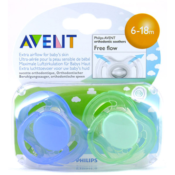 Avent Freeflow Silicone Soothers 6-18 Months