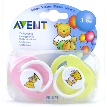 Philips Avent Silicone Soothers 3-6 Months