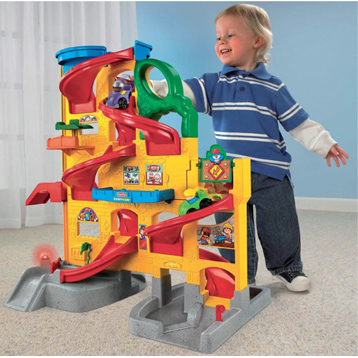 Little People Wheelies Stand & Play Ramp Way