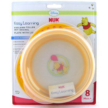 NUK Disney Winnie the Pooh Plate with Lid