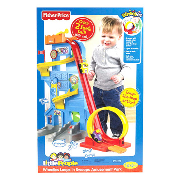 Little People Wheelies Loops n Swoops Amusement Park